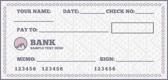 Blank check Stock Images