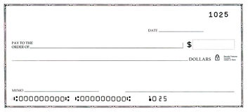 Free Blank Check With False Numbers Royalty Free Stock Photos - 7647538
