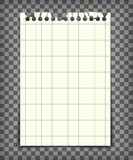 Blank checkered note book page with torn edge Stock Photo