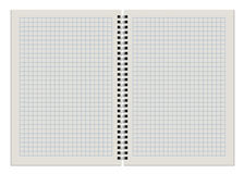 Blank checkered notepad Royalty Free Stock Image