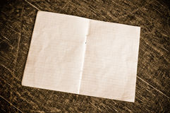 Blank checkered paper Royalty Free Stock Photography