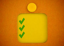 Blank checklist Royalty Free Stock Images