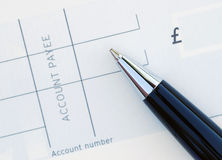Blank cheque Royalty Free Stock Photography