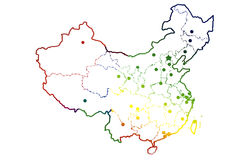 Blank China map Royalty Free Stock Photos