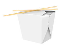 Blank Chinese food container. Isolated on white background Royalty Free Stock Photo