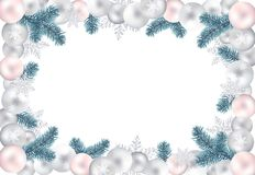 Blank christmas background for your greetings Royalty Free Stock Image