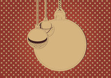 Blank christmas card. Background with blank card and christmas balls Royalty Free Stock Images