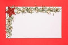 Blank Christmas card Stock Image