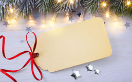 Blank Christmas card Royalty Free Stock Photography