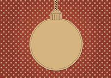 Blank christmas card. Shaped as a christmas ball Stock Photography