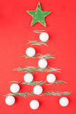 Blank Christmas card, tree ornament Royalty Free Stock Photo