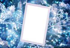 Blank Christmas card Stock Images