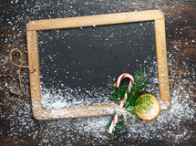 Blank Christmas chalkboard slate royalty free stock photography