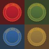 Blank christmas emblems Stock Photo