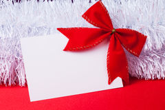 Blank christmas greeting card Royalty Free Stock Photo