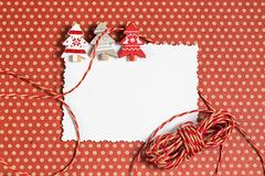 Blank christmas greeting card with decor Royalty Free Stock Photo