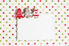 Blank christmas greeting card with decor Royalty Free Stock Photography