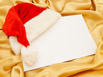 Blank Christmas invitation Stock Photo