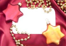 Blank Christmas invitation Royalty Free Stock Image