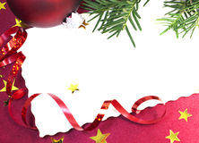 Blank Christmas invitation Royalty Free Stock Photo
