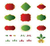 Blank christmas labels and element design Stock Photos