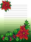 Blank for a Christmas letter or postcard. royalty free illustration