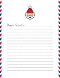 Blank Christmas letter to Santa Claus. A vector illustration of a blank US Christmas letter to Santa Claus Stock Photos