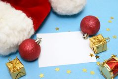 Blank Christmas Note Royalty Free Stock Photos