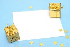 Blank Christmas Note Royalty Free Stock Photography