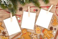 Blank Christmas Photo Frames Stock Photography