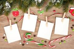 Blank christmas photo frames Royalty Free Stock Image
