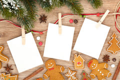 Blank christmas photo frames Stock Photography