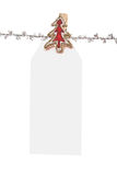 Blank Christmas Tag  Royalty Free Stock Image