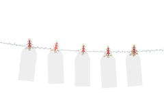 Blank Christmas Tags stock images