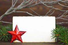 Blank Christmas vintage photo frame Stock Photography