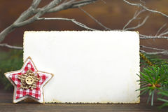 Blank Christmas vintage photo frame Stock Images