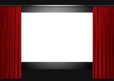 Blank cinema screen Royalty Free Stock Photography