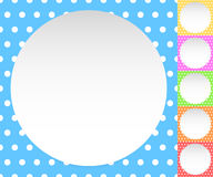 Blank circle, sheet, disc over polkadot pattern / Background is Stock Photography