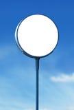 Blank circle sign board Royalty Free Stock Photo