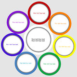 Blank circles with place for text Royalty Free Stock Image