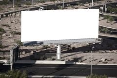 Blank City Billboard Stock Photography
