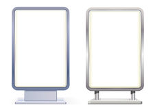 Blank citylight boards. Vector isolated Royalty Free Stock Photography