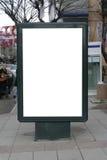 blank cl för affischtavla inklusive en affischvertical Arkivbild
