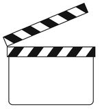Blank clapboard (illustration) Stock Photos
