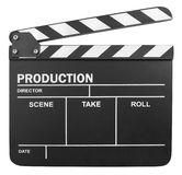 Blank clapper board Stock Images