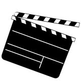 Blank clapperboard Royalty Free Stock Photos