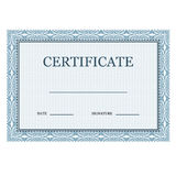 Blank classic certificate decorative Stock Images