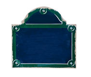 Blank classic street of Paris plate Stock Photo