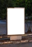 Blank Clear Billboard Stock Image