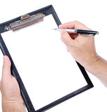 Blank clipboard Royalty Free Stock Photo